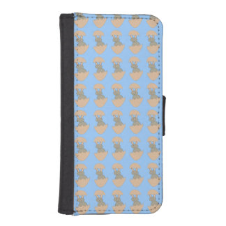 Bunny Hatching from Egg Weird iPhone Wallet Case