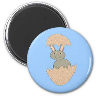 Bunny Hatching from Egg Weird Magnet
