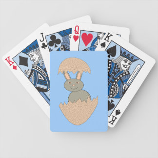 Bunny Hatching from Egg Weird Playing Cards