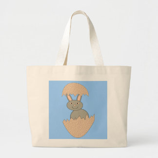 Bunny Hatching from Egg Weird Tote Bag