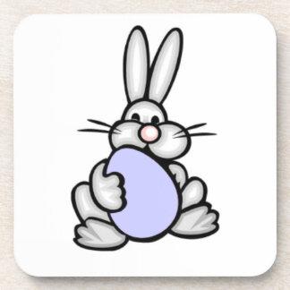 Bunny holding Lavender Blue Egg Drink Coasters