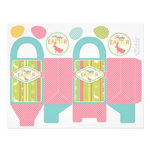 Bunny Hop Box Template Personalized Flyer