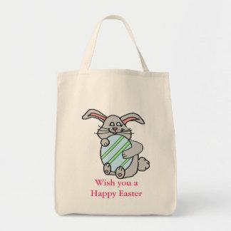 Bunny Hugging An Egg Bag