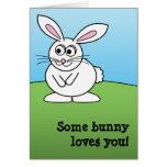 Bunny - I'd Rather be farming! cartoon animal Card