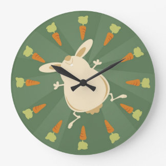 Bunny illustration large clock