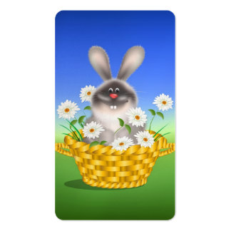 Bunny in Basket Business Card Template