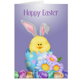 Bunny In Egg Easter Card