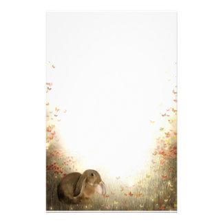 Bunny in foliage stationery