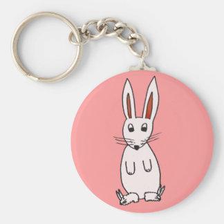 Bunny in Slippers Key Ring