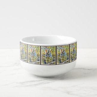 Bunny in Spring Flowers Soup Mug