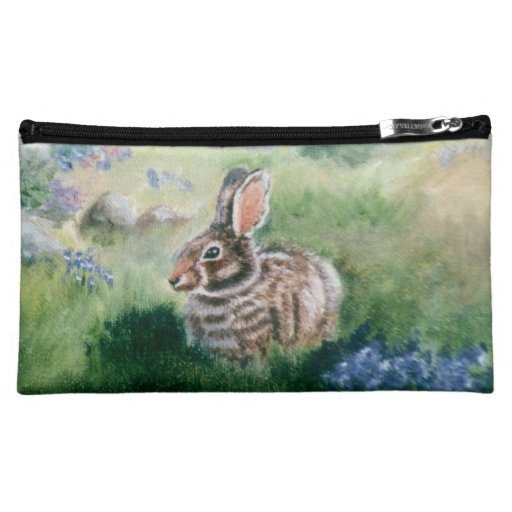 Bunny In the Meadow caseable case Cosmetic Bag