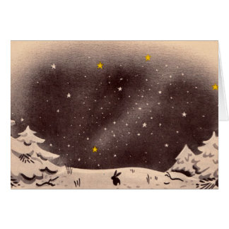 Bunny in the Snow: Perfect for the holidays! Card