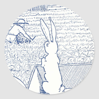 Bunny in Wheelbarrow Sees Farmer Stickers