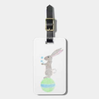 Bunny Juggler Luggage Tag