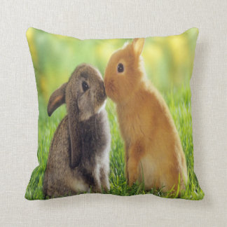 bunny kiss cushion