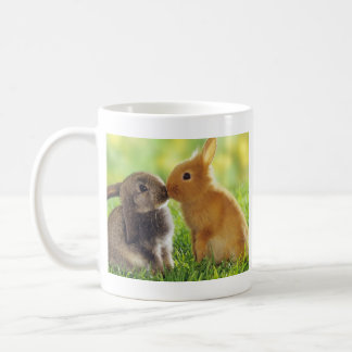 Bunny Kiss Basic White Mug