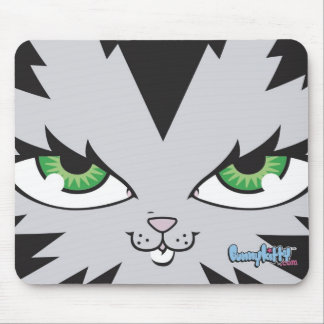 Bunny Kitty Face Mouse Pad