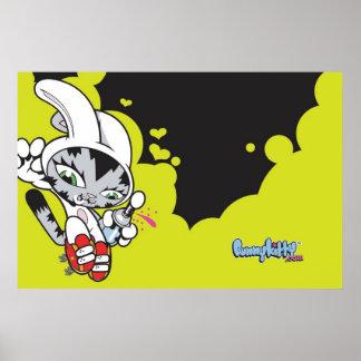 Bunny Kitty Jump Poster