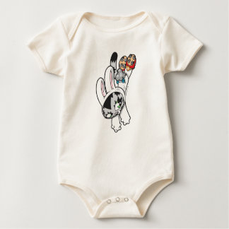 Bunny Kitty Leap Baby Bodysuit