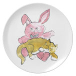 Bunny Lap Nap for Kitten Plate