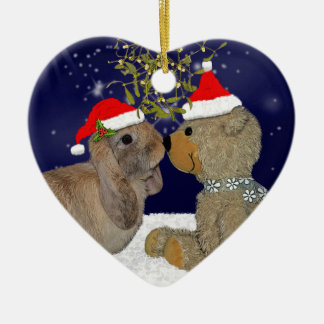 Bunny Love at Christmas Ornament