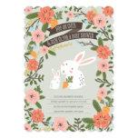 Bunny Love Baby Shower Invite 13 Cm X 18 Cm Invitation Card