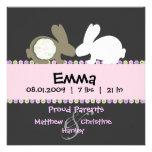 Bunny Love Birth Announcement