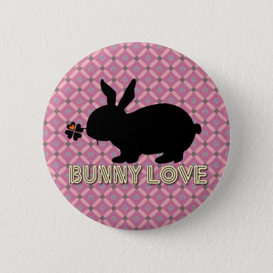 Bunny Love Botton 6 Cm Round Badge