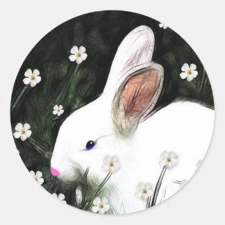 Bunny Love Round Sticker