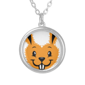 Bunny love silver plated necklace