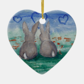 Bunny Lovin' aceo Christmas Ornament