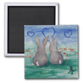 Bunny Lovin aceo Magnet