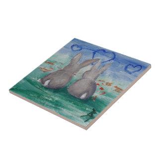 Bunny Lovin' aceo Tile