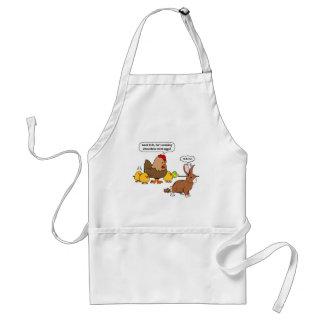 Bunny makes chocolate poop funny cartoon standard apron