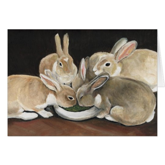 Bunny Meal Time Art Note Card