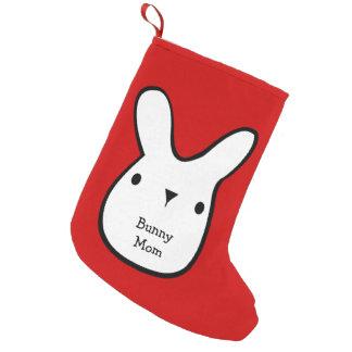 Bunny Mom (customizable) Small Christmas Stocking