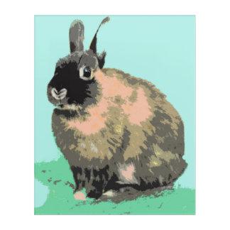 Bunny Nursery Art acrylic panel