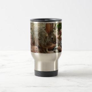 Bunny on Sedona Rock Travel Mug