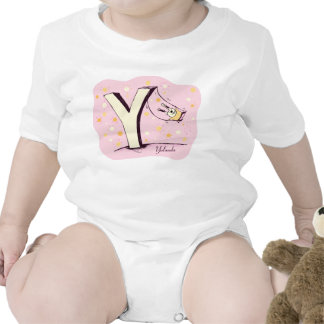 Bunny on Swing Letter Y Baby Tee