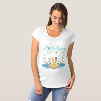 Bunny on the Way Adorable Maternity T-Shirt