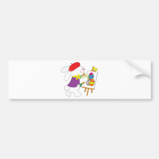 Bunny Painting Eggs Bumper Sticker