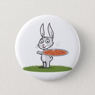 Bunny Pizza 6 Cm Round Badge