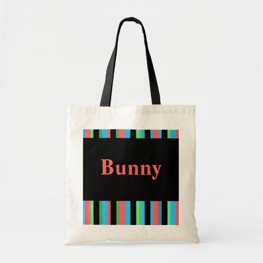 Bunny Pretty Striped Tote Bag