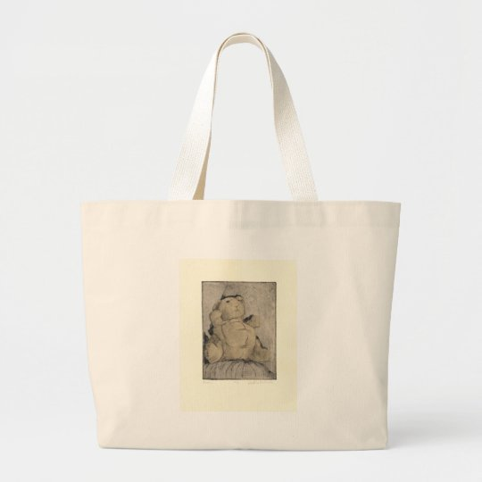 Bunny Print Items Large Tote Bag