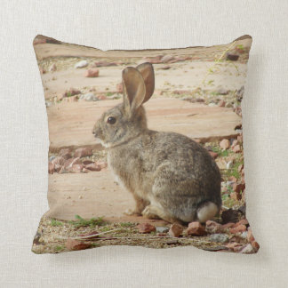 Bunny Profile Custom Throw Pillow