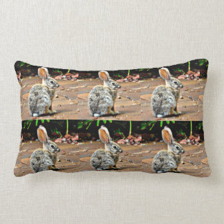 Bunny Profile Lumbar Pillow