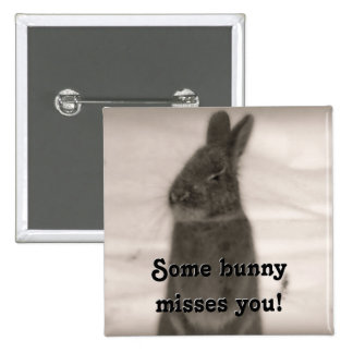 Bunny Rabbit 15 Cm Square Badge