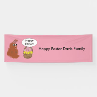 Bunny Rabbit and Baby Chicks Happy Easter Custom Banner