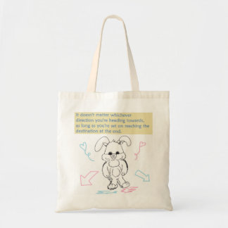 Bunny Rabbit and Quote Tote Bag