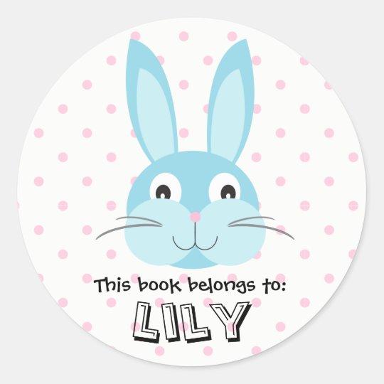 Bunny Rabbit Animal Woodland Face Blue Book Girl